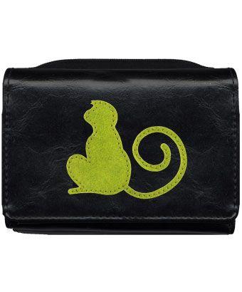LAVISHY vegan leather monkey small wallet