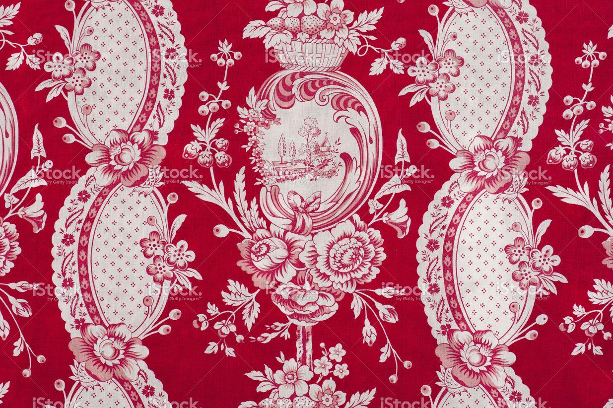 Antique floral fabric SB13 Close Up stock photo 19453959 - iStock