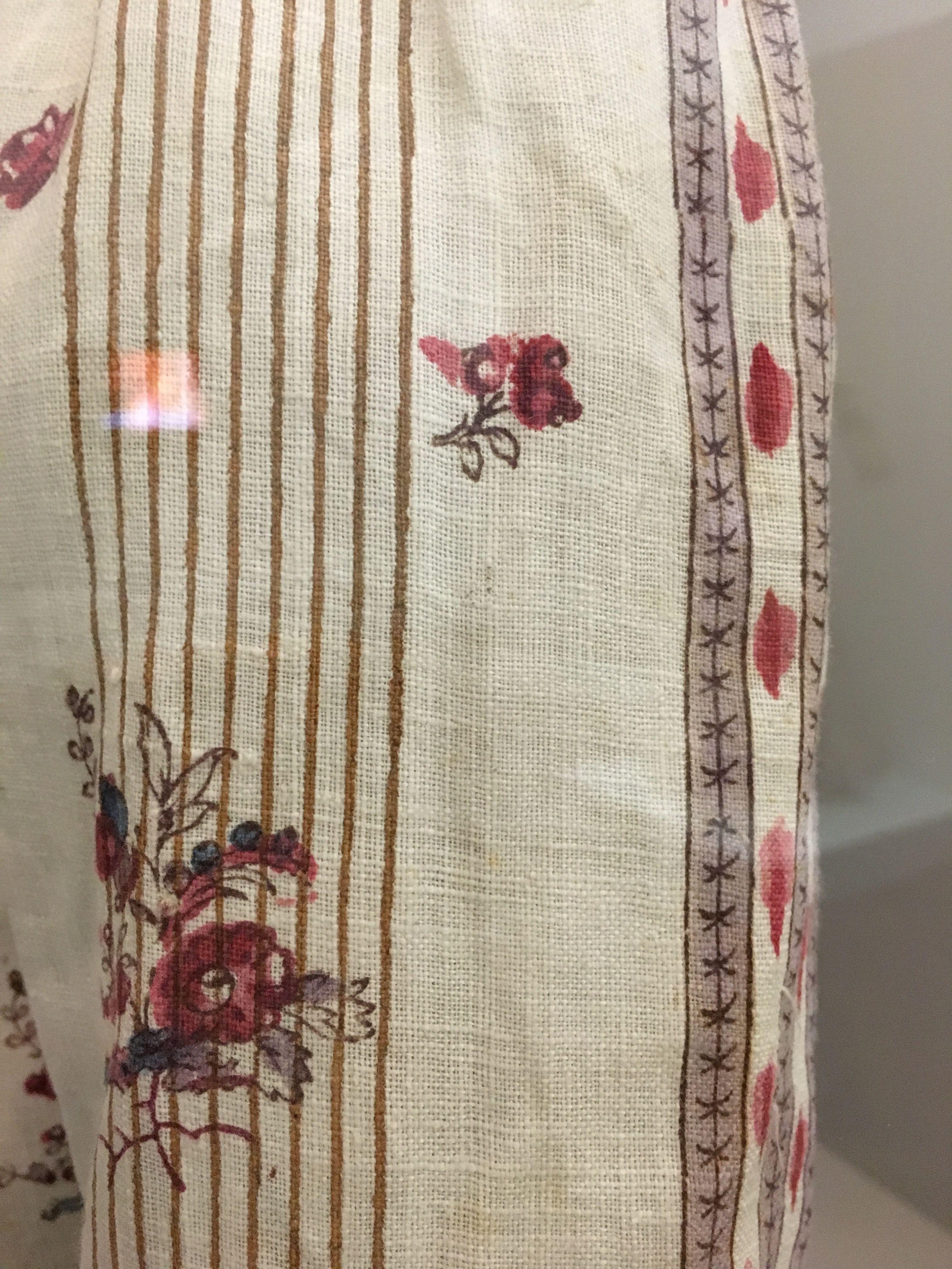 Impression Photo Planche Bois 1750-1800 veste en indienne pour enfant. suisse, manufacture