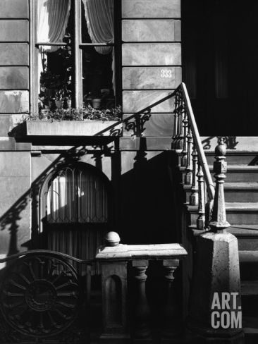 Stairway Bannister With Diagonal Shadow, Manhattan, 1944 Photographic Print by Brett Weston at Art.com