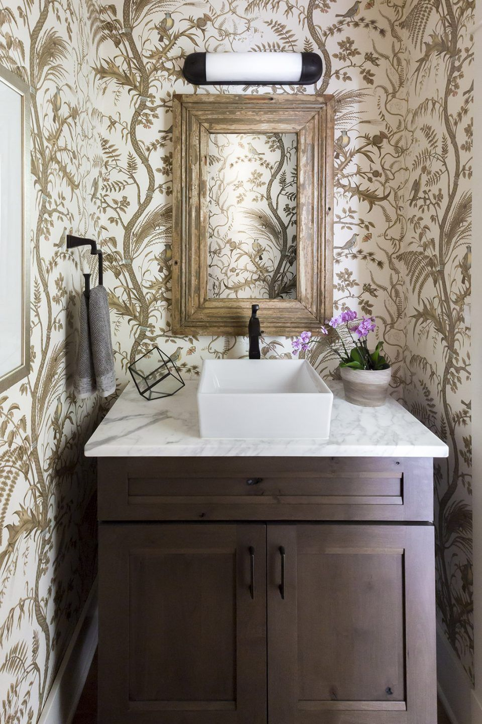 Pin On Wallpaper New country housepowder room