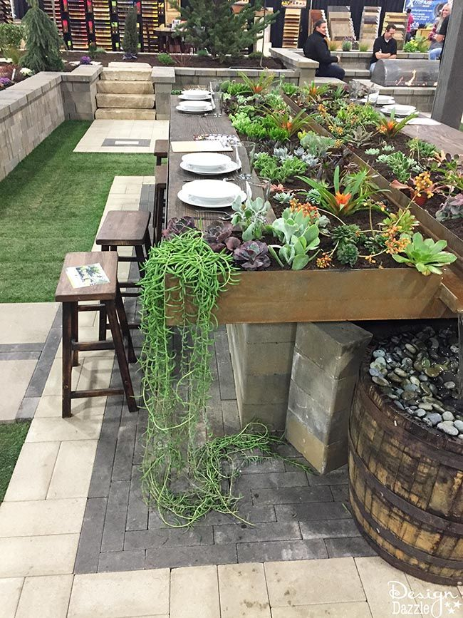 Succulent Living Garden Tablescape