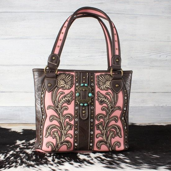 Lilly+Concealed+Carry+Pink+Tote