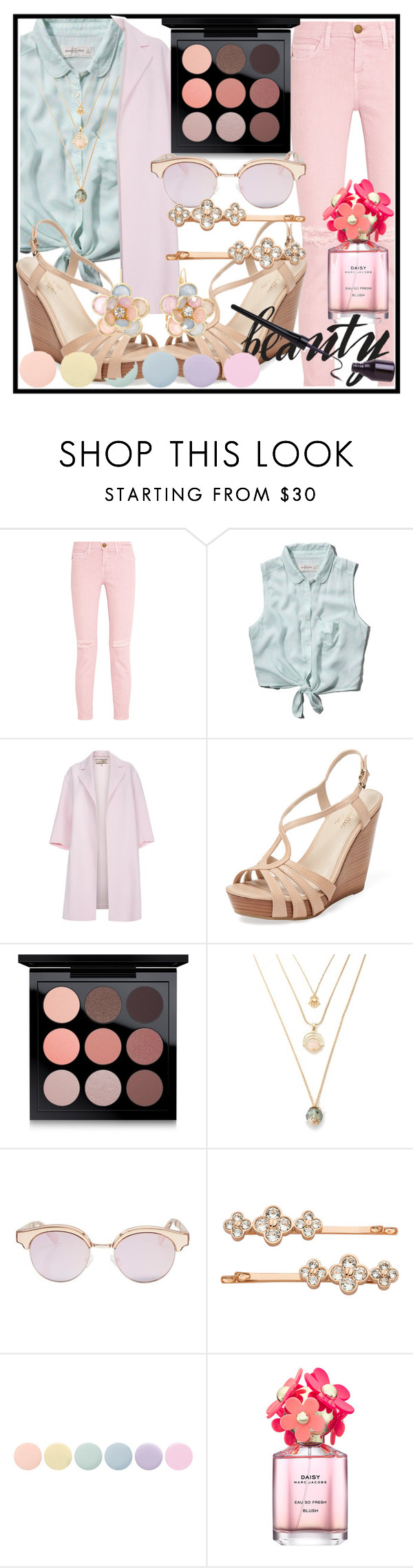 """Untitled #141"" by rckless-relentless ❤ liked on Polyvore featuring Current/Elliott, Abercrombie & Fitch, Paul Smith, Seychelles, MAC Cosmetics, Le Specs, Henri Bendel, Deborah Lippmann, Marc Jacobs and Mixit"