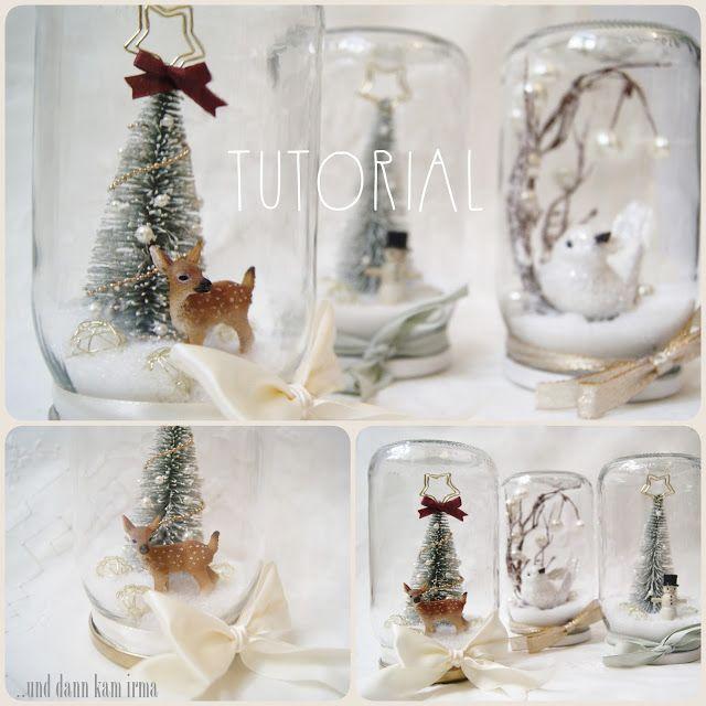 winterlandschaft im einmachglas diy tuorial diy pinterest weihnachten einmachen und diy. Black Bedroom Furniture Sets. Home Design Ideas