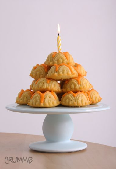 Noelles mini bundt cake tower Cake tower Pastry recipe and Cake