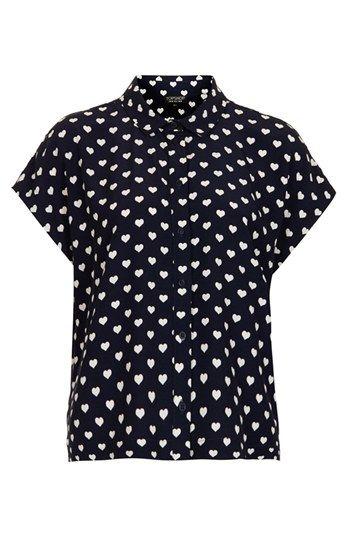 e819abedd3ca48 Topshop Heart Print Shirt