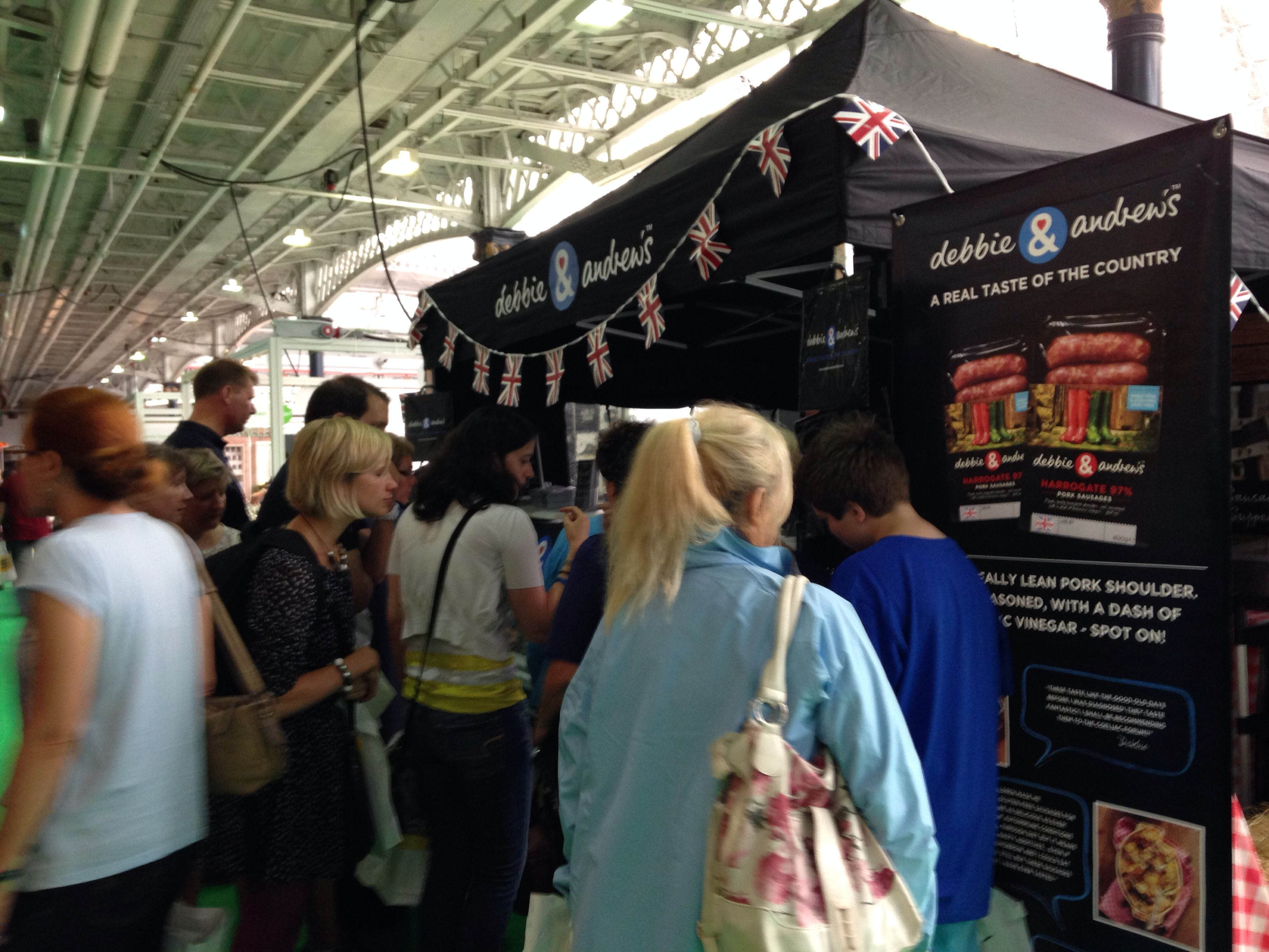 The smell of our Harrogate 97% Pork sausages pulled in the crowds!