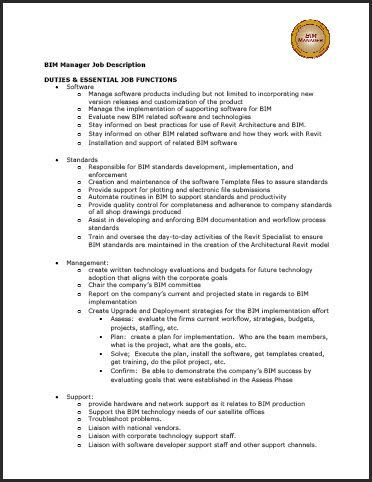 acad2009matrix BIM works Pinterest Sample resume - job description