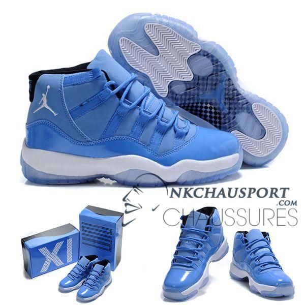 Nike Air Jordan 11 | Classique Chaussure De Basket Homme Cuir Bleu
