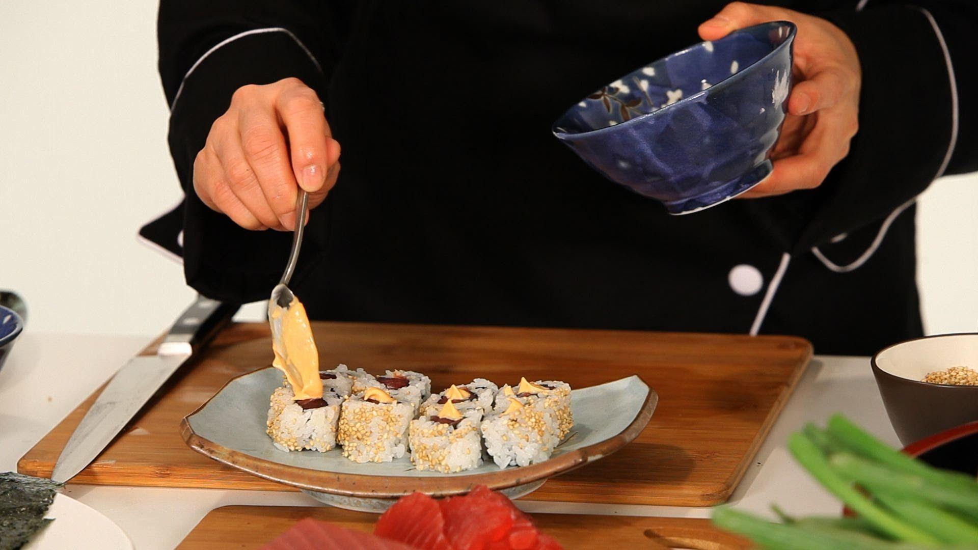 How to make spicy mayo sushi lessons sushi rice sushi