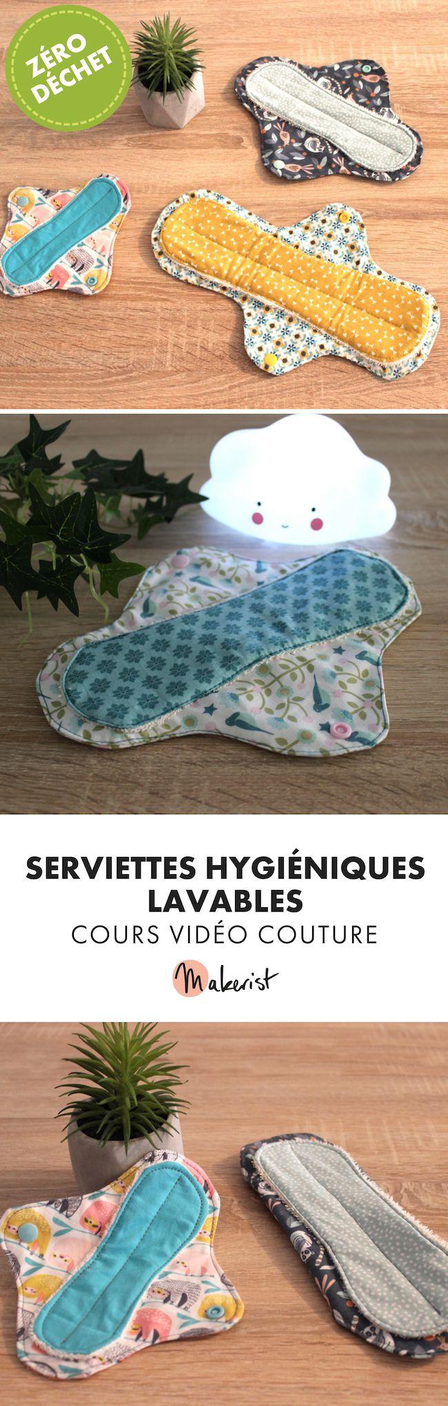 Cours de couture zéro déchet - serviettes hygiéniques lavables #couturezerodechet