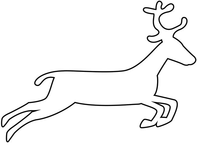 image result for reindeer cut out template Игрушки pinterest
