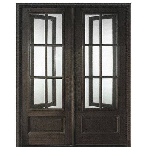 Dsa Doors Breezeport Tdl 6lt E 04 6 Lite Mahogany Double Entry Door With Built In Screens And Operable Windows