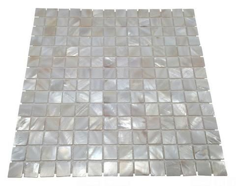 Vogue Tile Genuine Premium Quality White Mother Of Pearl Natural Sea Shell Mosaic Tile 3 4 X 3 4 On 12 X 12 Mesh Shell Mosaic Tile Shell Mosaic Spa Tile
