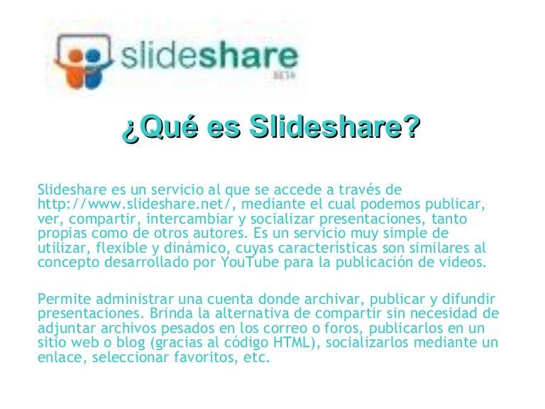 Tutorial Slideshare Para crear una cuenta y subir presentación