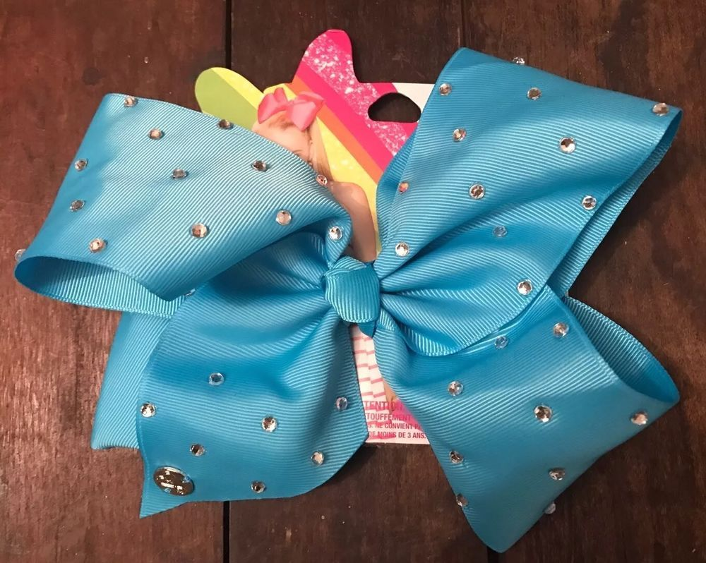 Hair accessories for babies ebay - Jojo Siwa Claires Exclusive Girls Big Hair Bow Baby Blue Rhinestone Pageant New Ebay