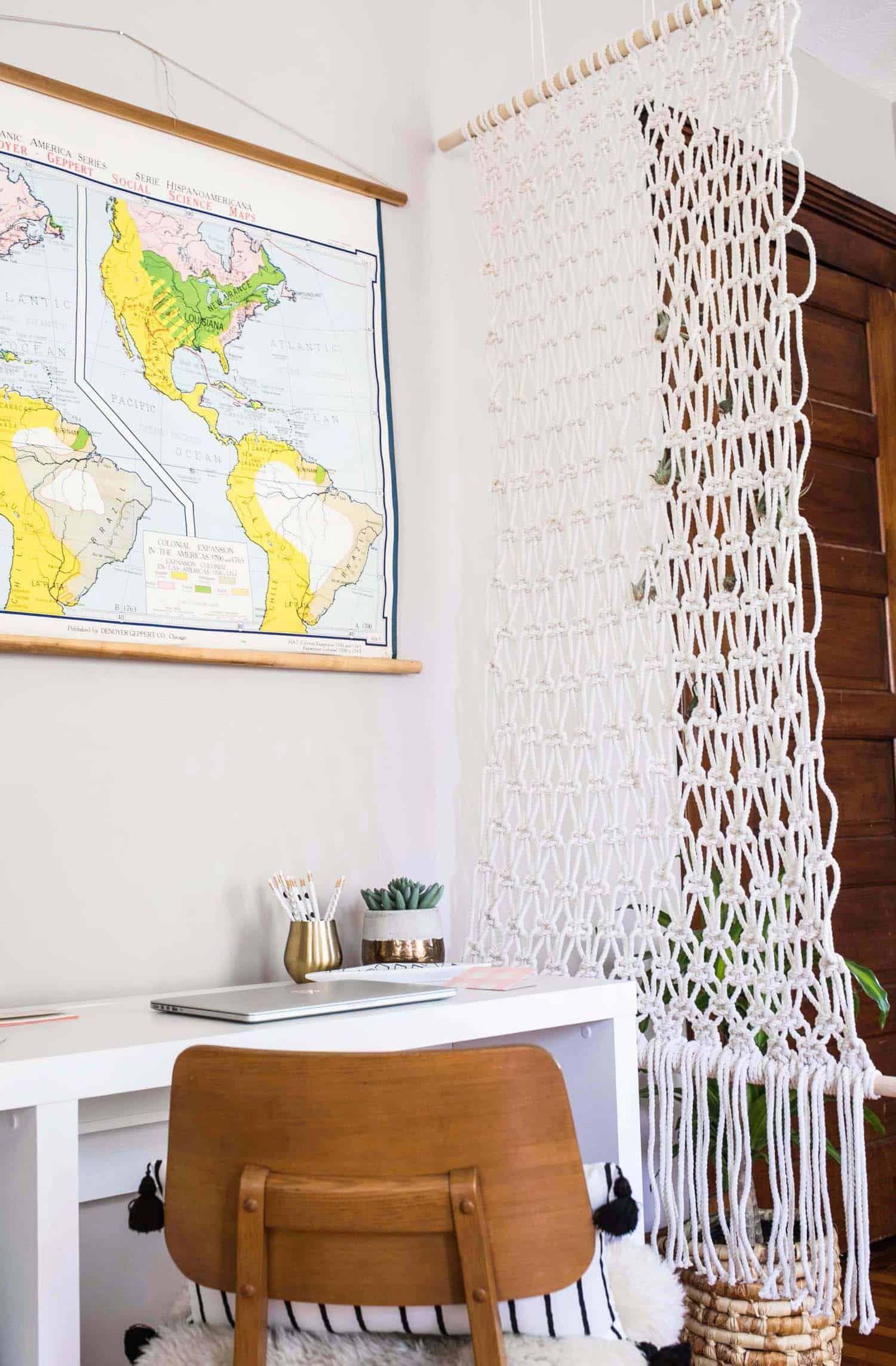 Macrame room divider diy diy home pinterest divider design