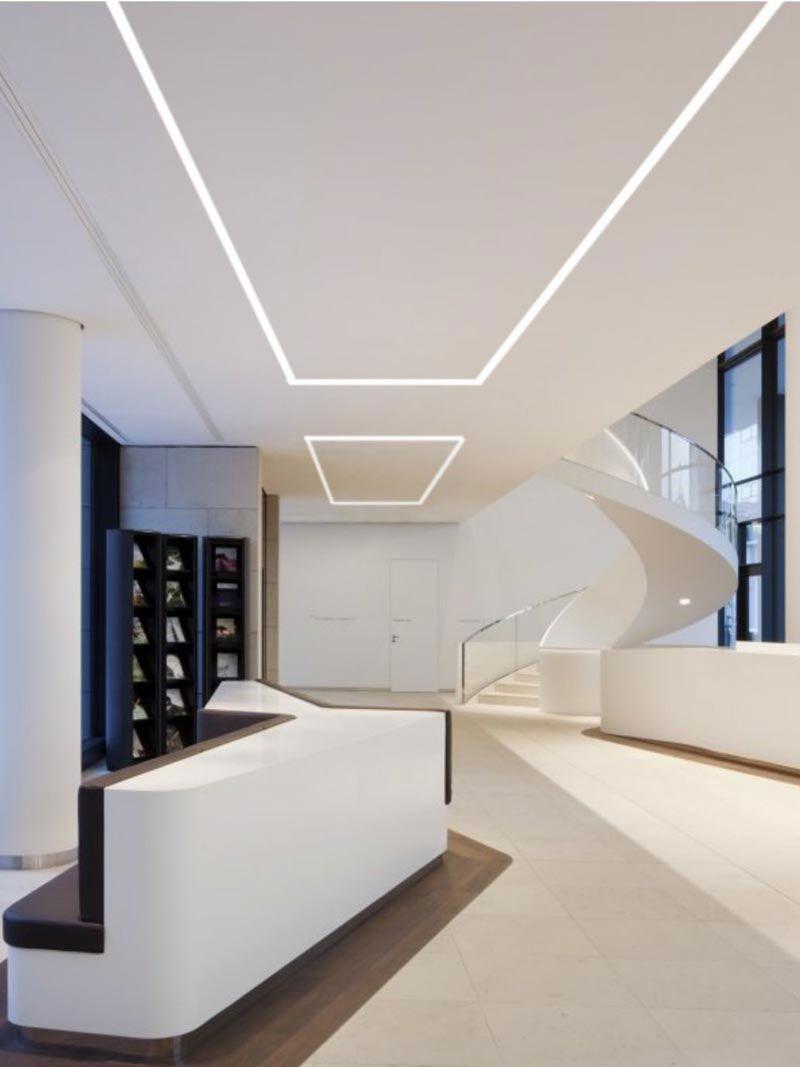 Luna Lighting Track System Dubai Led Recessed Lighting Linear Lighting Linear Lighting Design