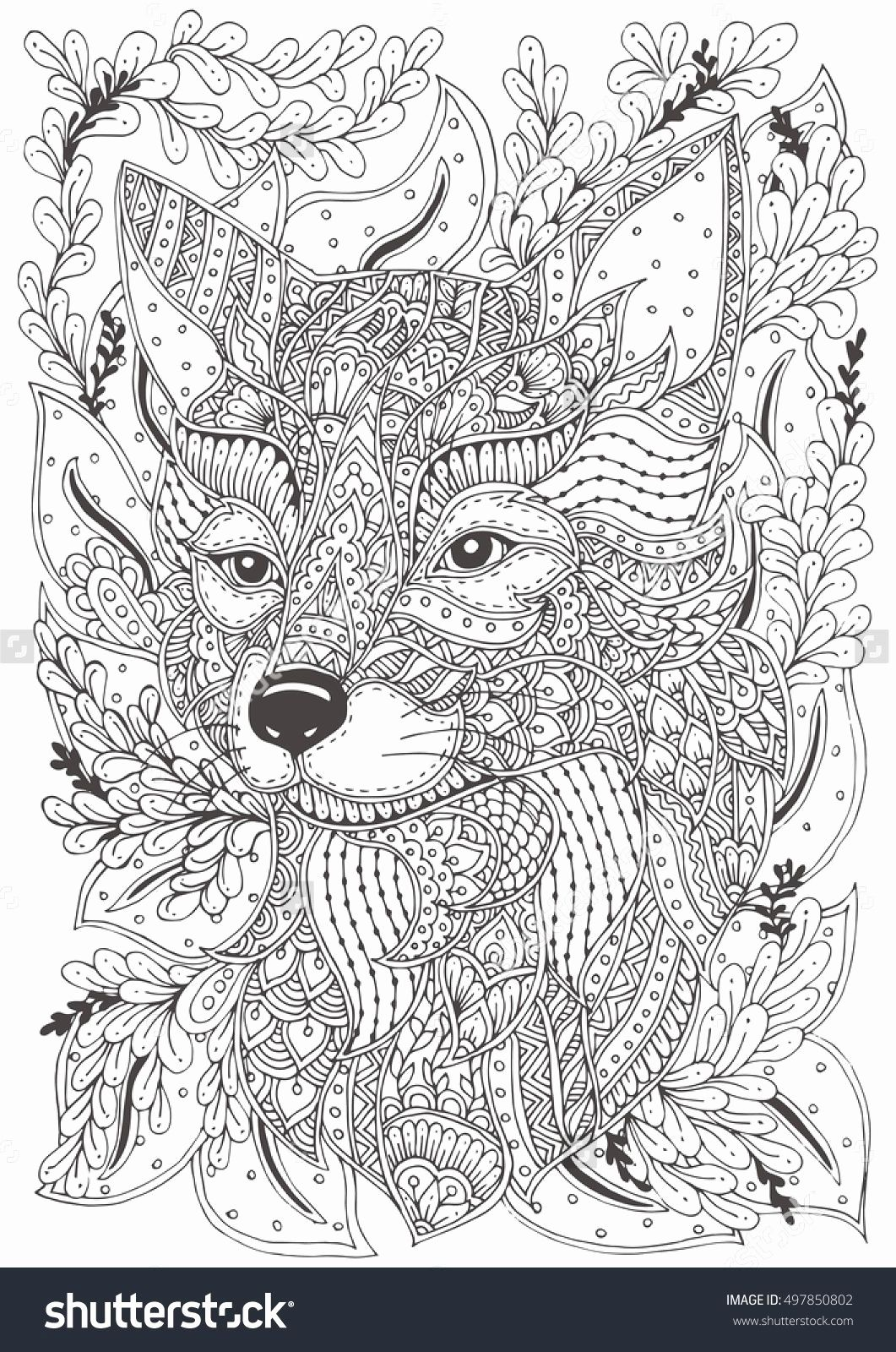 Fox Hard Coloring Pages For Kids In 2020 Fox Coloring Page Animal Coloring Pages Pattern Coloring Pages