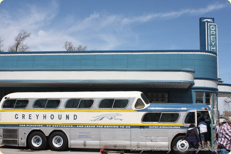 Greyhound Bus 1960 Town The Attraction Was Our Restored Art