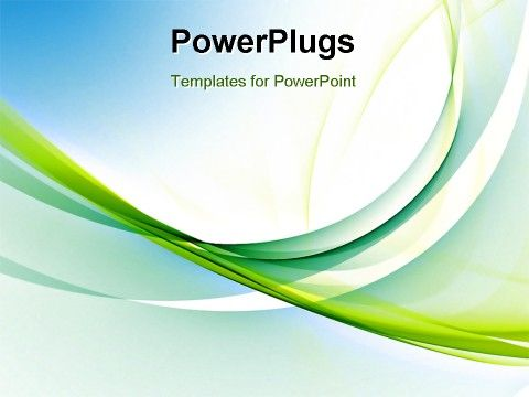 Powerpoint Template With Abstract Blue Green Templates