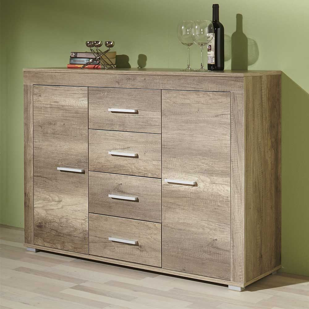Sideboard in eiche tr ffel 120 cm breit sideboard for Kommode esszimmer