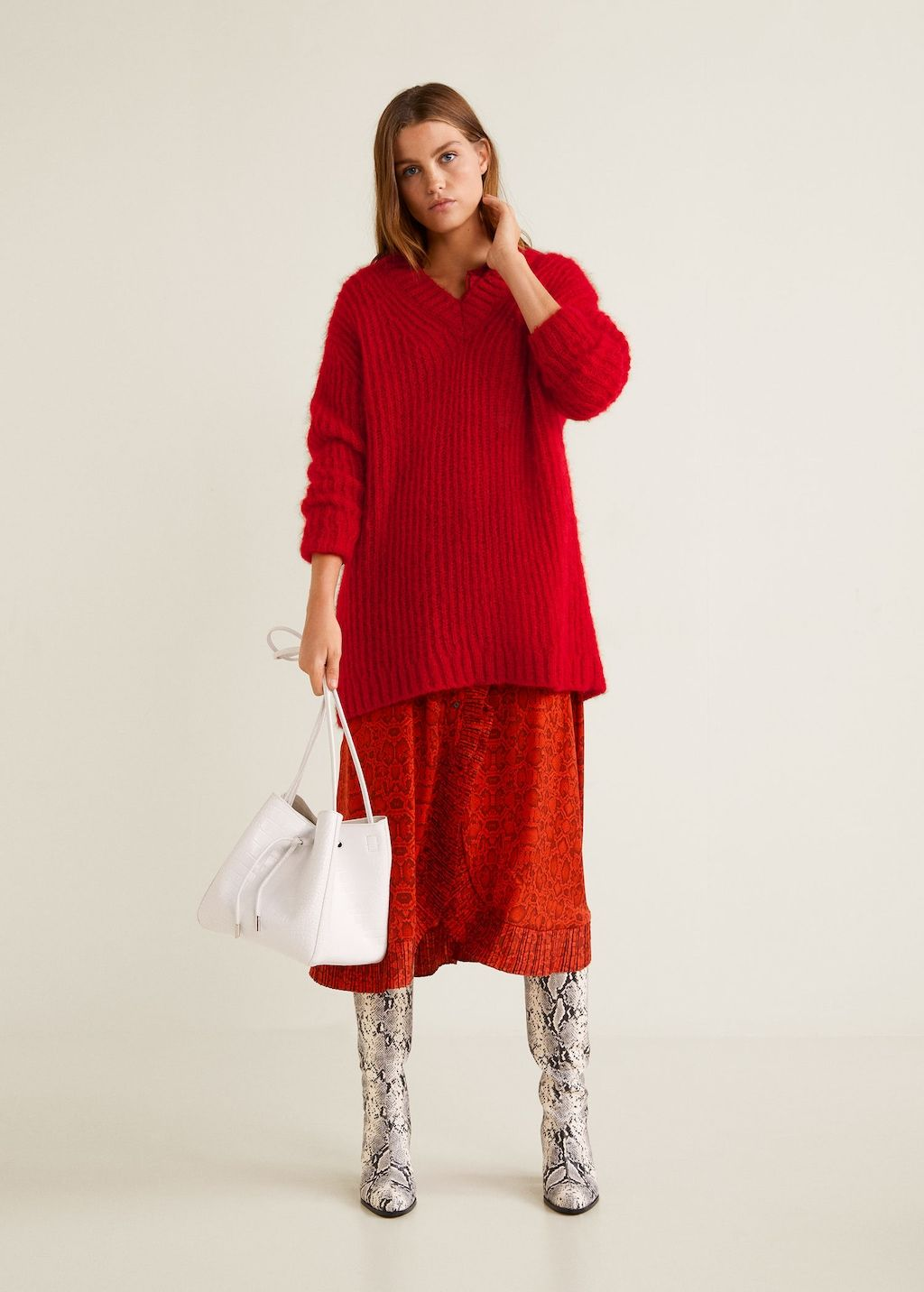 Long Mohair Blend Sweater Women Covet Pinterest Sweaters