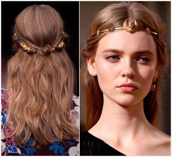 peinados griegos para mujer pelo largo y suelto | peinados griegos