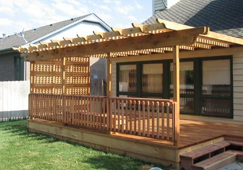 Trex Wood With Half Of Pergola Only And Closed In Deck