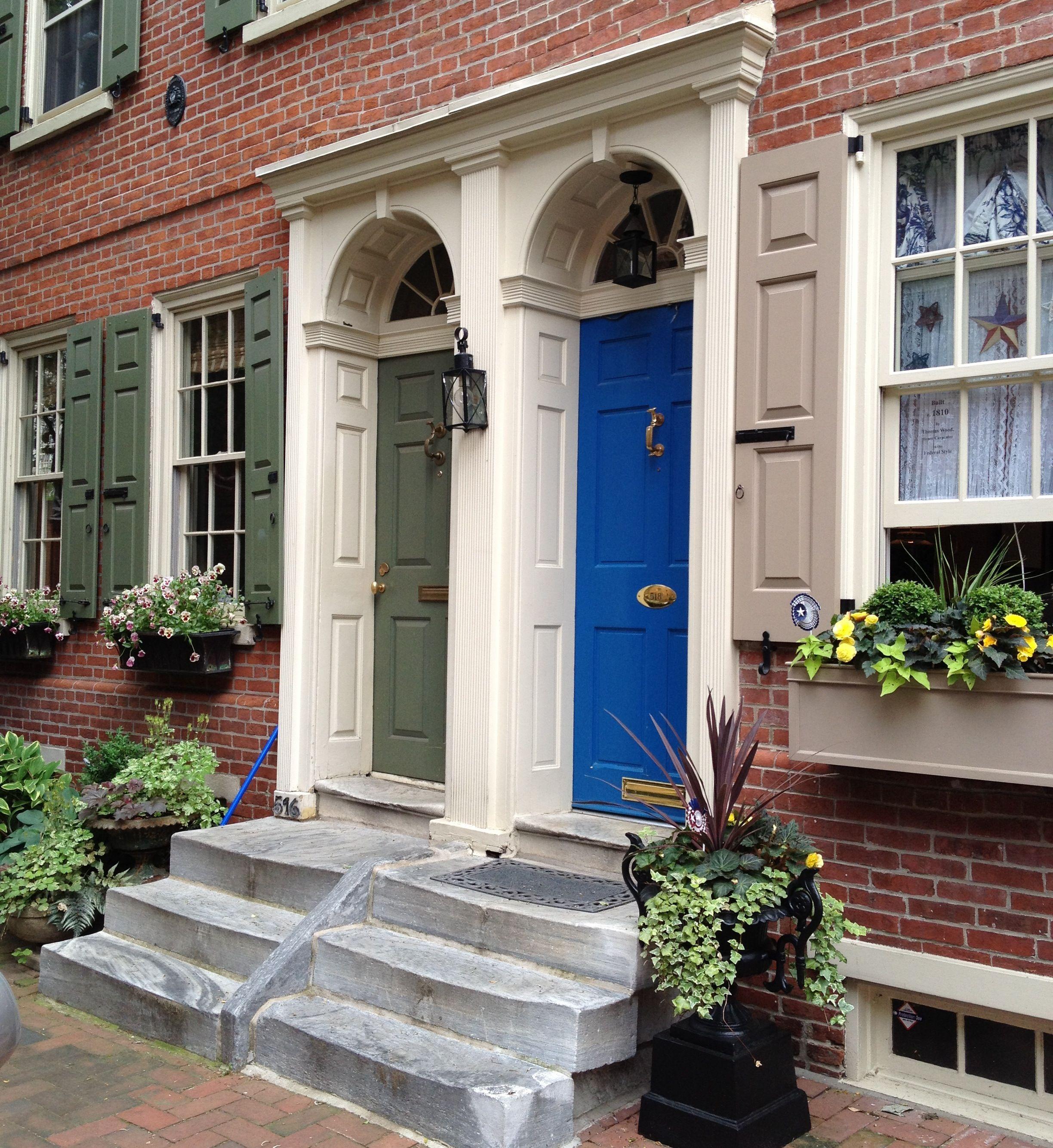 Philadelphia PA & Door inspiration: Philadelphia Society Hill. Historic Doors and ...
