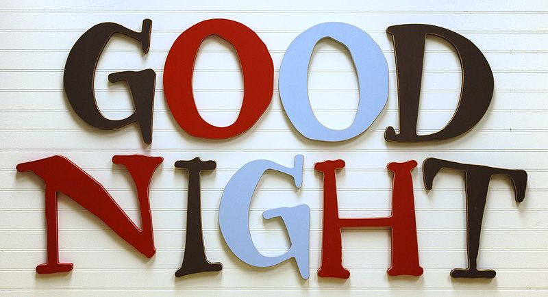 good night wall letters | nursery design love | pinterest