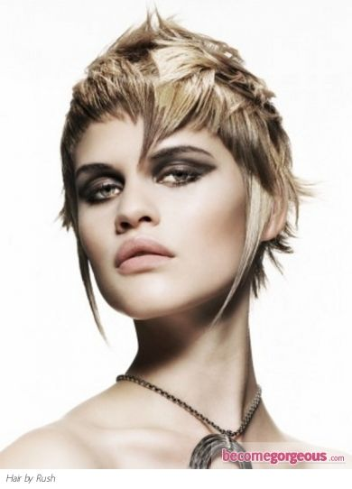 Heavy Layered Hair Style Punk Girl Hairstyles Pictures Say Goodbye