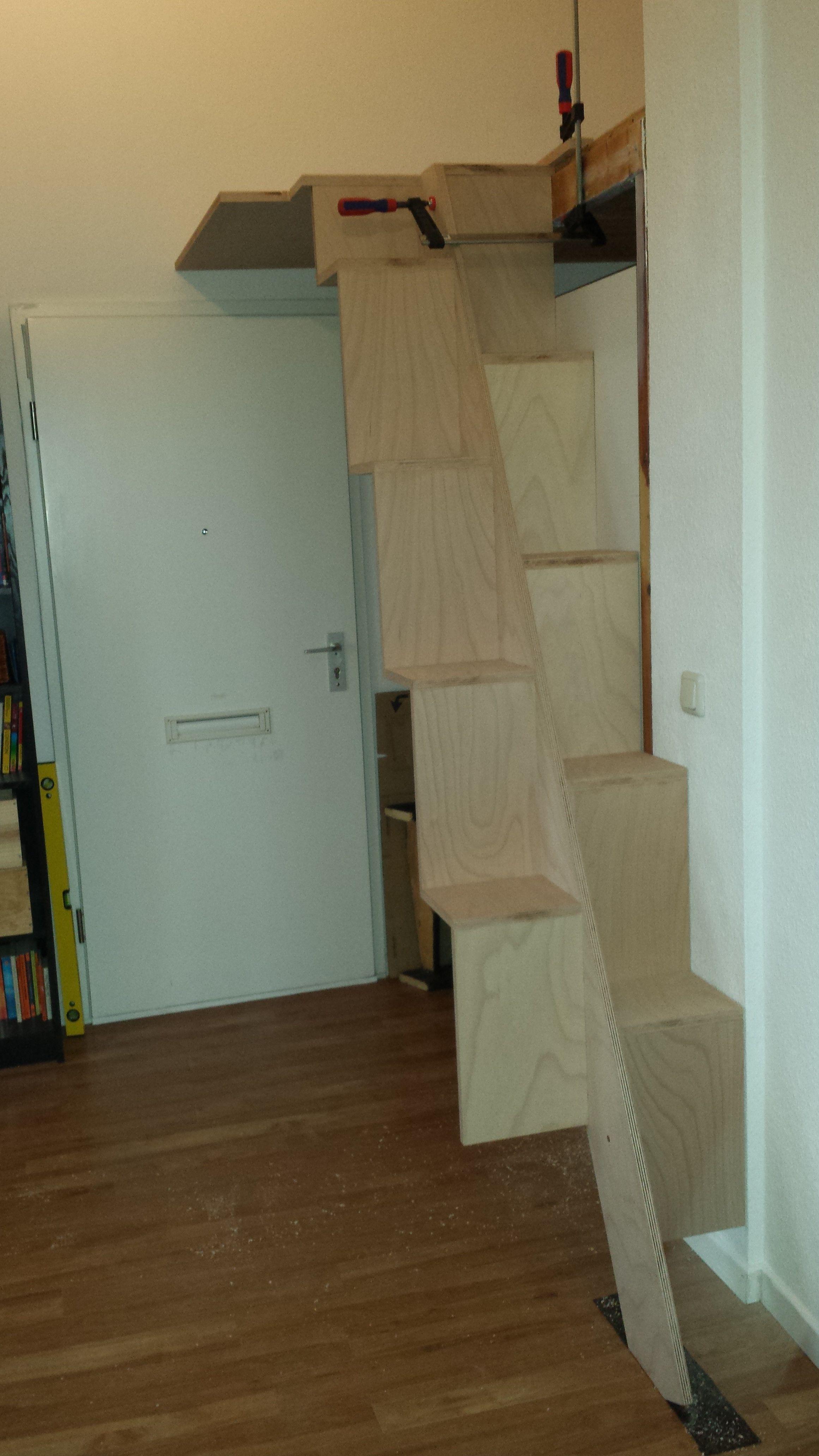 samba treppe auf zum neuem hochbett aaa pinterest treppe hochbett und bett. Black Bedroom Furniture Sets. Home Design Ideas