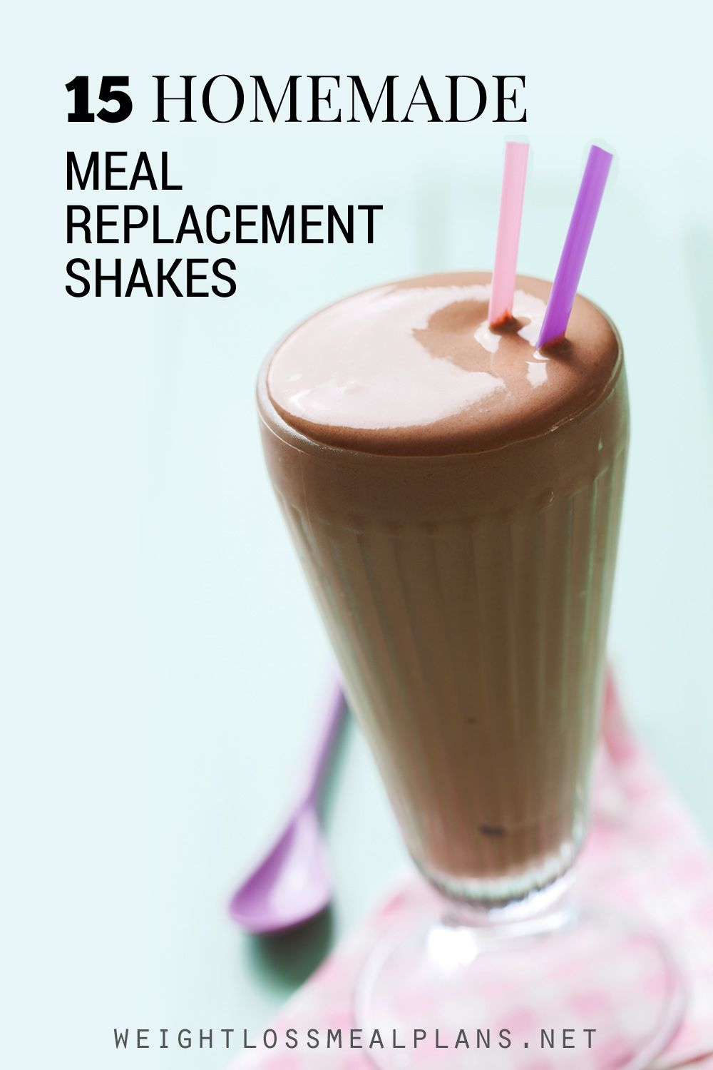 Homemade meal replacement shakes should not be the main source of your energy. The safest plan is to use them to replace one meal a day.