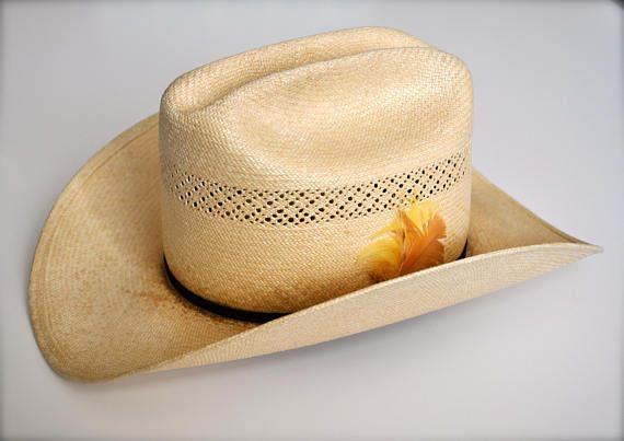 04a031c5 Vintage Stetson Straw Hat