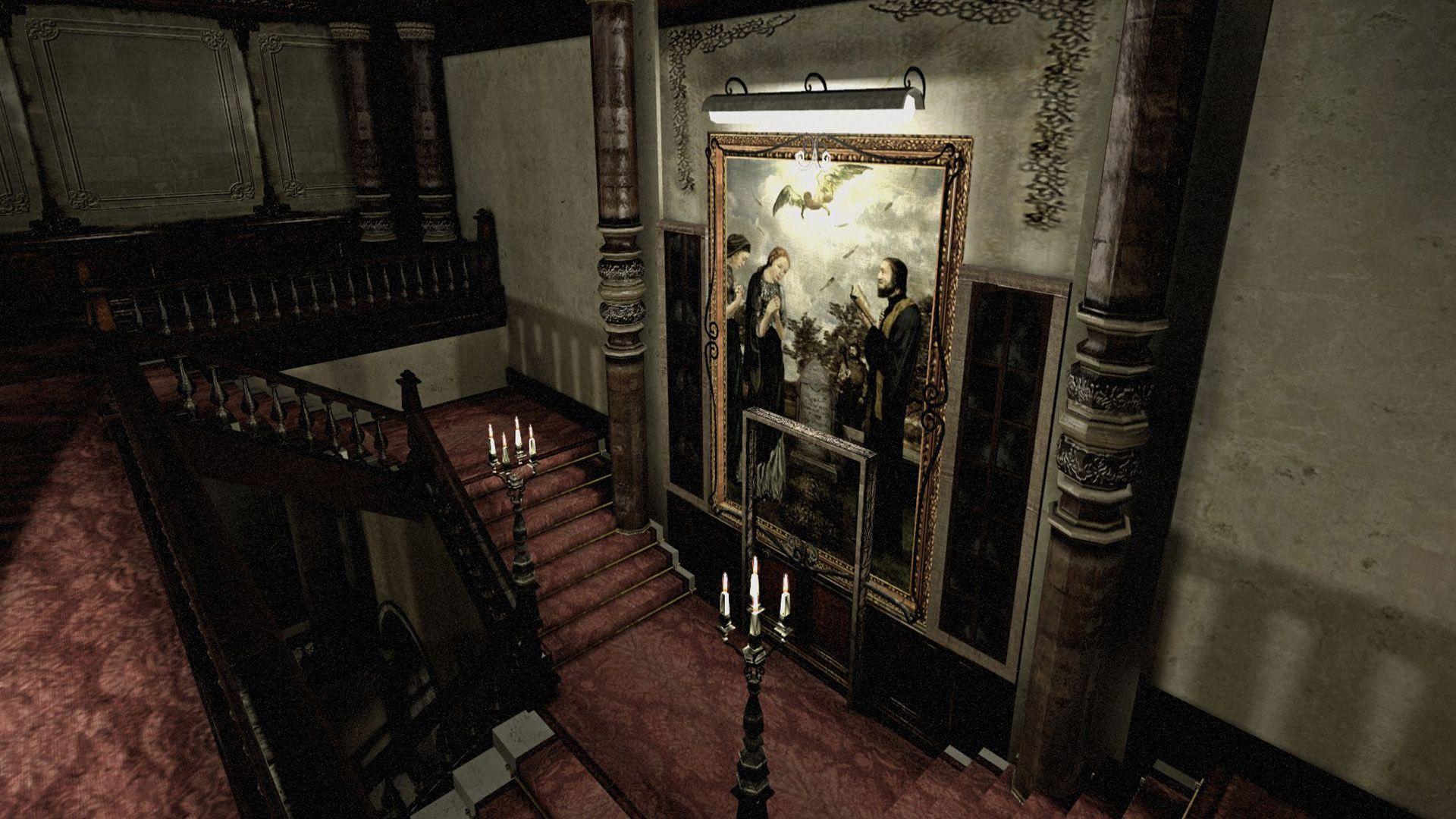 Foyer Wallpaper Game : Resident evil remake mansion foyer google search