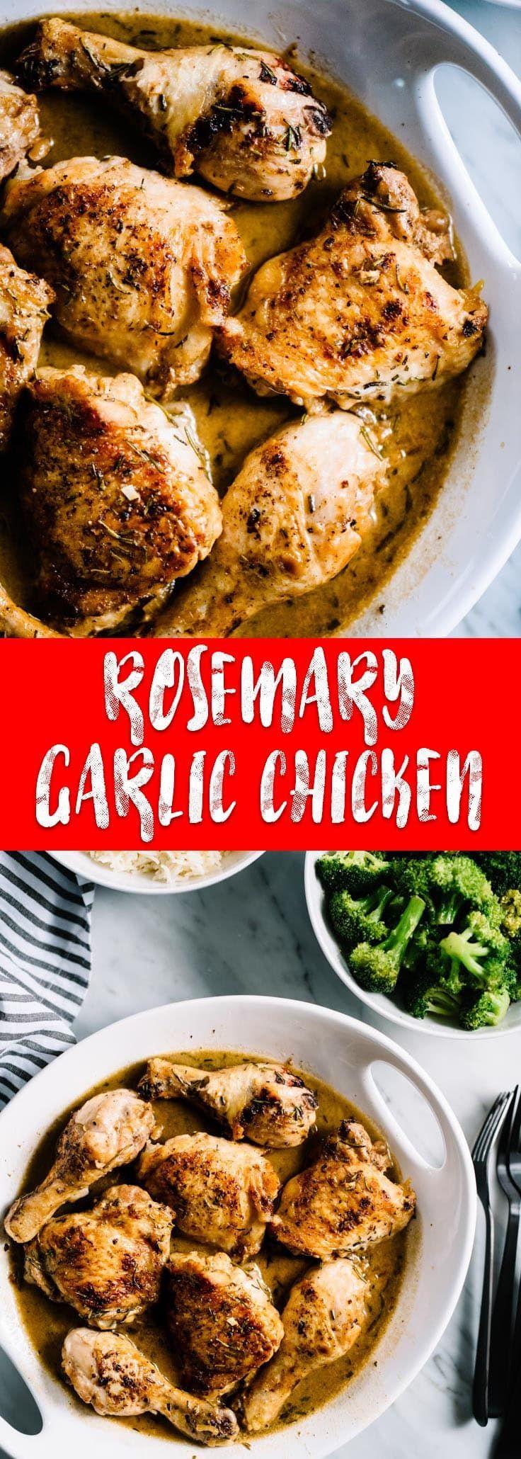 Creamy Rosemary Garlic Chicken Recipe Rosemary Chicken Recipe Rosemary Chicken Baked Garlic Rosemary Chicken