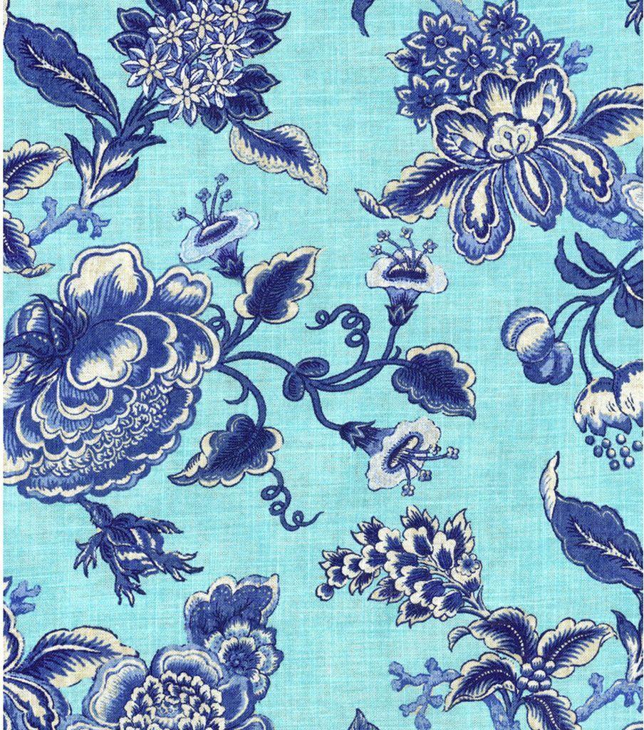 Williamsburg Print Fabric-Persiana/Porcelain