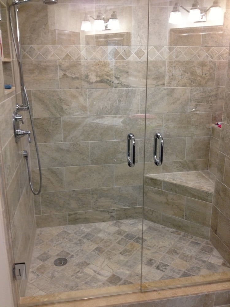 Tile Shower Corner Bench 12x24 Google Search Shower Tile Beige Bathroom Bathrooms Remodel