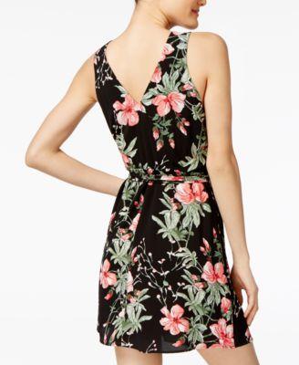 e8c907b8851 Teeze Me Juniors  Floral-Print Fit   Flare Dress - Black Multi XXL ...