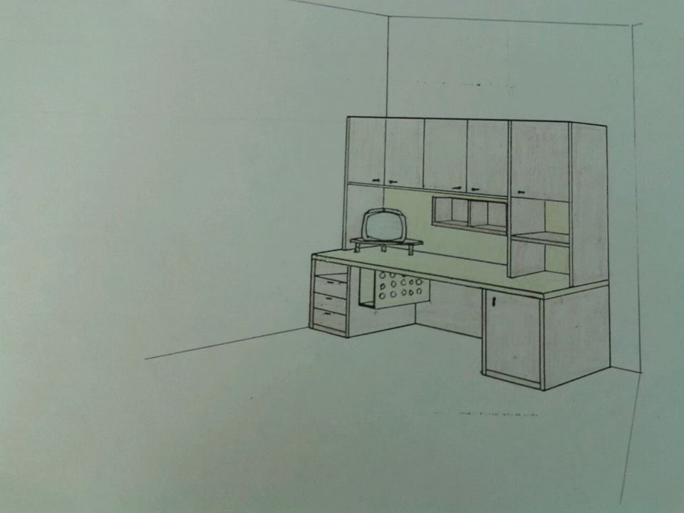 Progetto zona studio per cameretta.