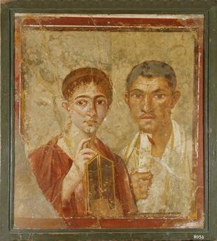 AKG Anonymous: Paquius Proculus with wife / Pompeii. Art