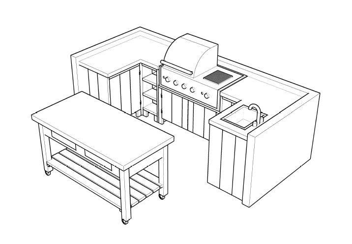 Zelf een bouwtekening maken for Zelf een tuintafel maken