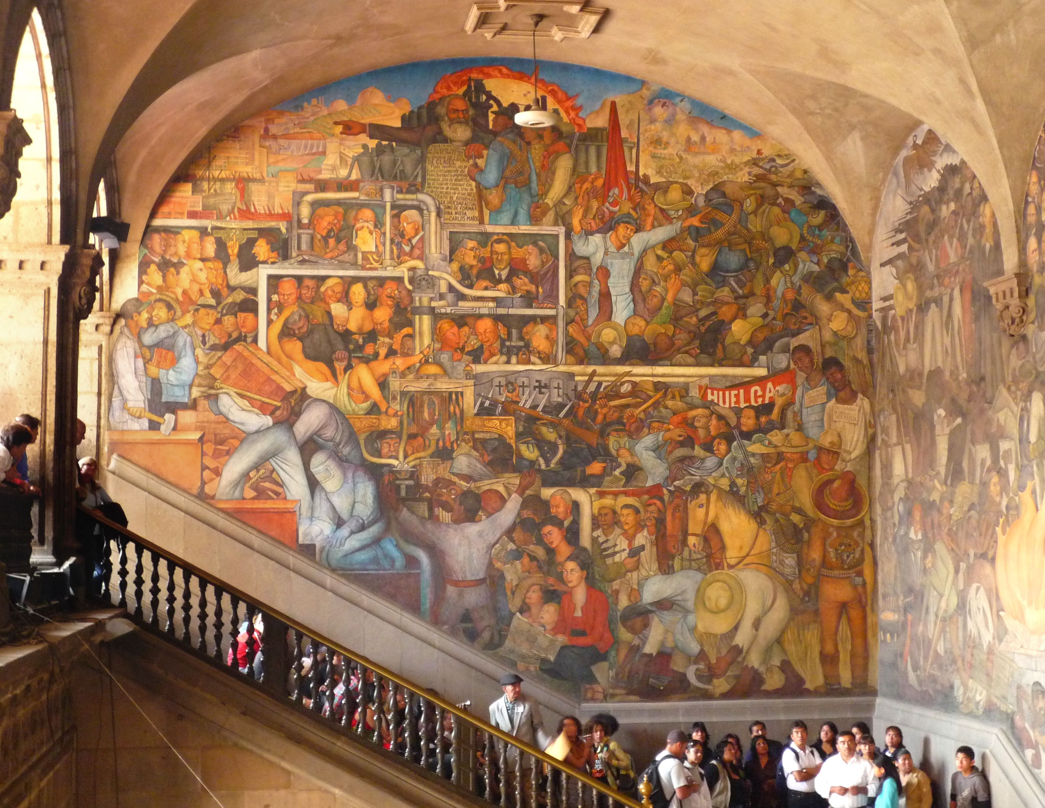 Diego rivera s murals of mexico mosaics frescos murals for Mural diego rivera