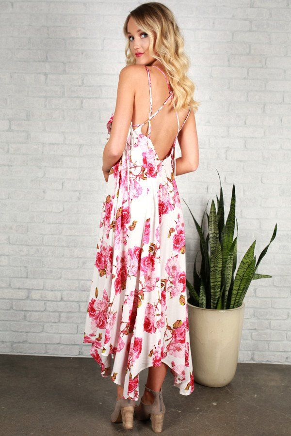 Hearts and Roses Maxi Dress