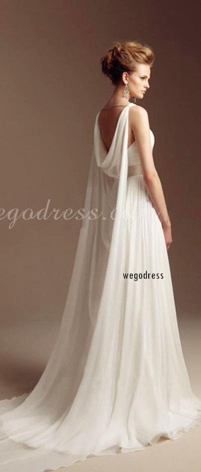 Oasap floral dresses wedding design and grecian goddess for Greek wedding dress designers