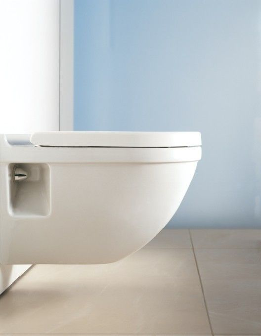 Designed By Philippe Starck The Duravit Starck 3 Wall Mounted Toilet Is Watersense Certified And Off Wall Mounted Toilet Wall Hung Toilet Small Space Bathroom