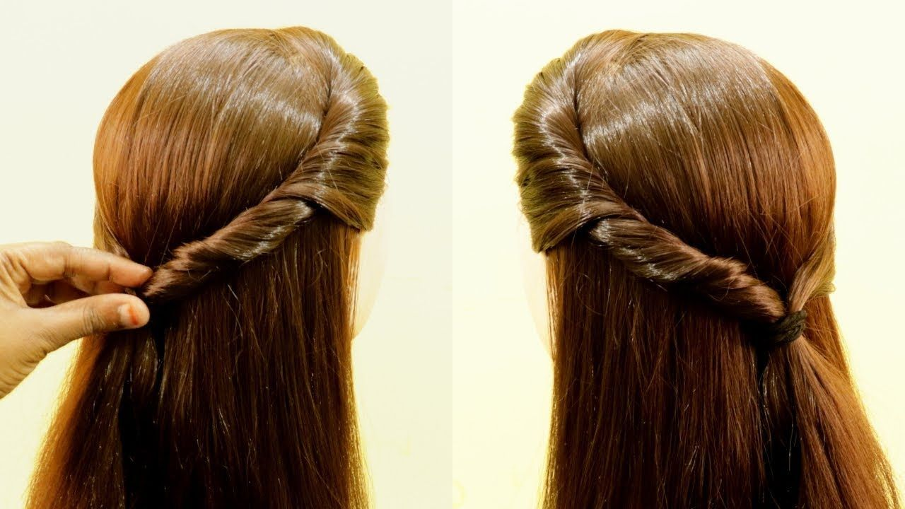 Easy Daily Hairstyle For College School Girls Simple Hairstyle Quick Hairstyles Kgs Hairstyles College Daily Hairstyles Easy Hairstyles Quick Hairstyles
