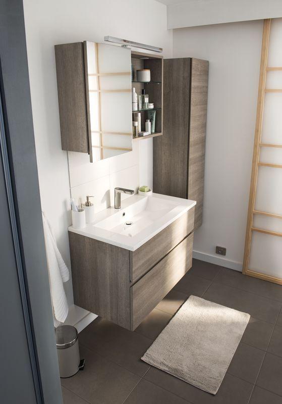 Epingle Par Tonya Green Sur Bathroom En 2020 Meuble Salle De Bain Meuble Vasque Castorama Salle De Bains Carrelage Gris